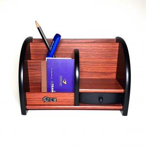 Wooden Desk Organizer Pen Stand