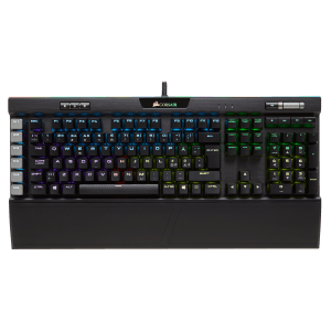 Corsair K95 RGB PLATINUM Mechanical Gaming Keyboard — CHERRY® MX Speed — Black / Brown / Gunmetal